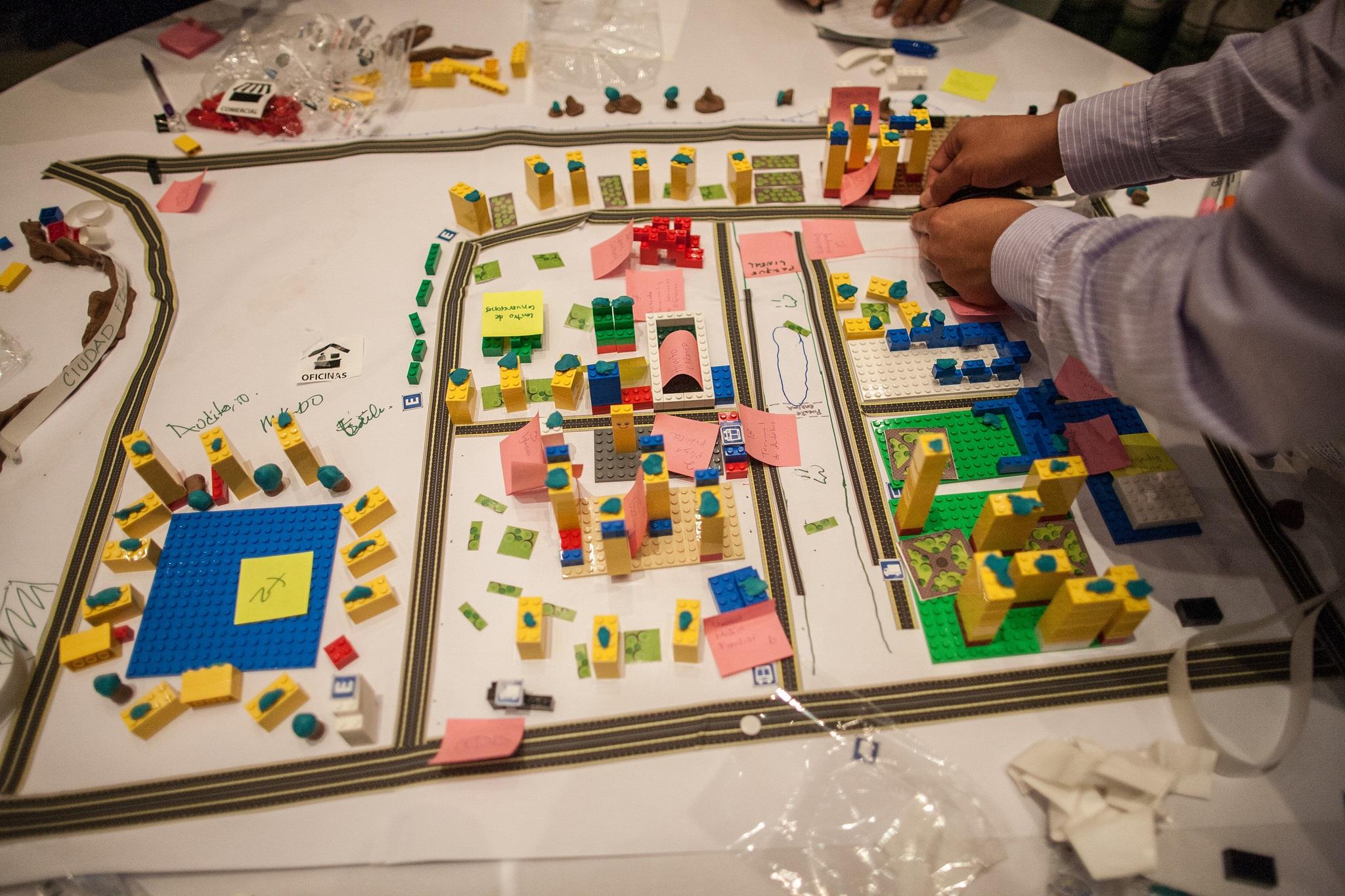 Workshop participants design their cities
